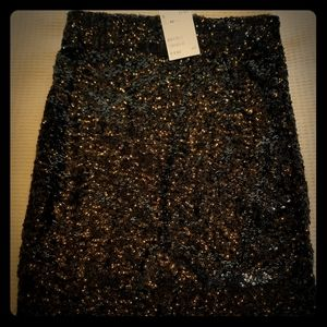 H&M black sequin skirt